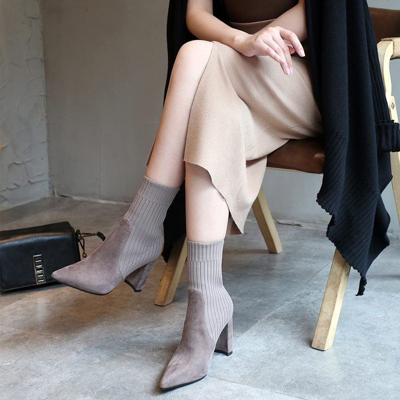 Chiko Cuthberta Sock Ankle Boots