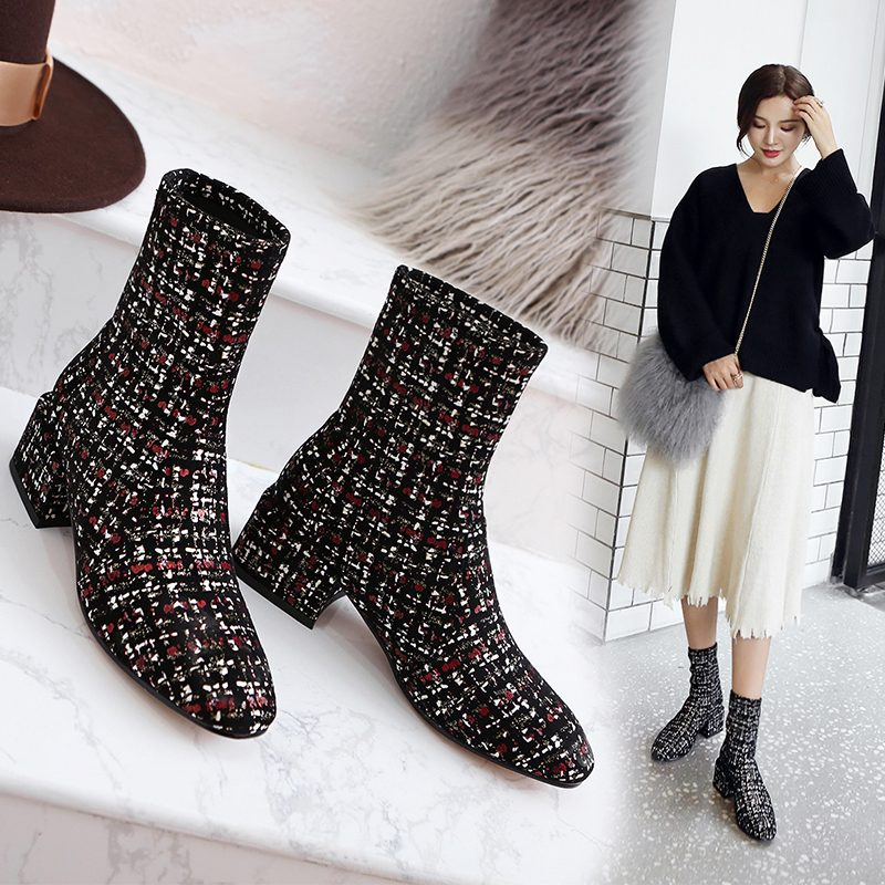 Chiko Daina Tweed Ankle Boots