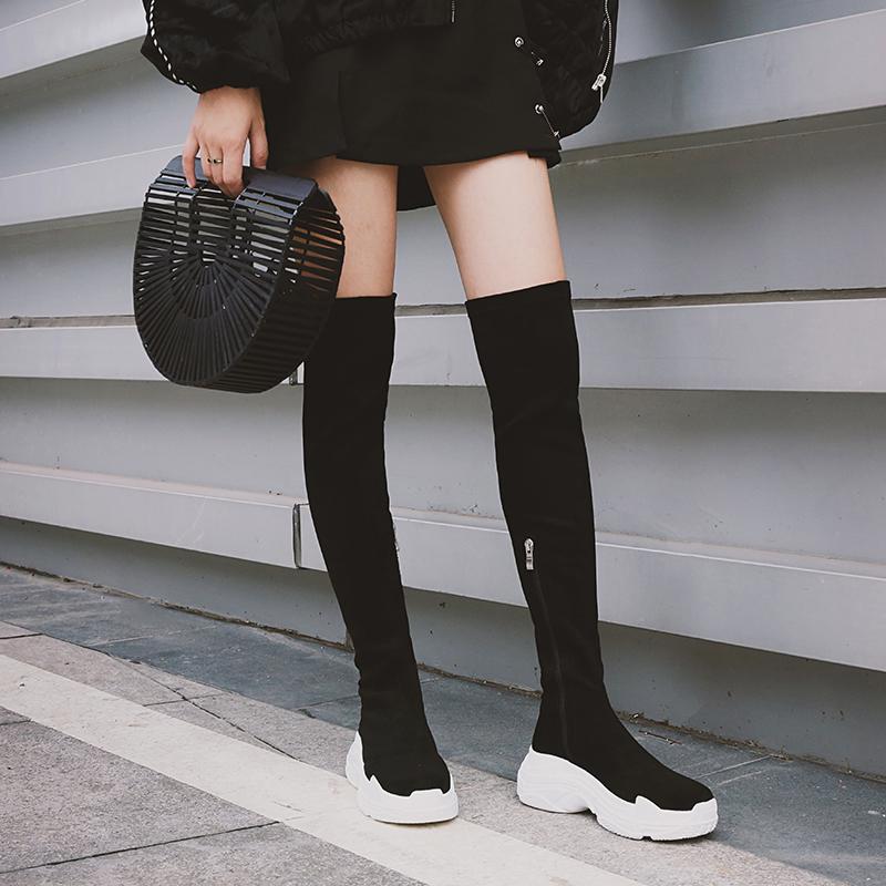 Chiko Dalan Flatform Sock Ankle Boots