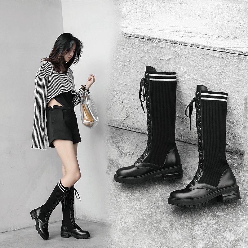 DALYN KNEE HIGH SOCK BOOTS