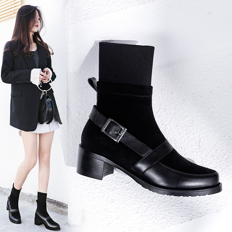 DAYLA SOCK ANKLE BOOTS