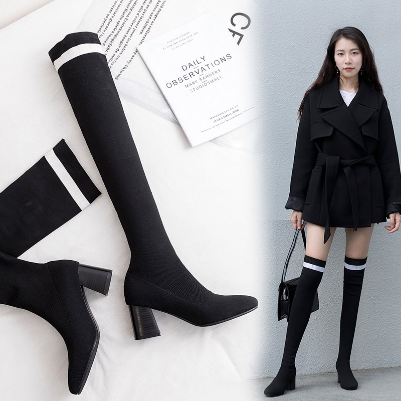 DAYLIN ABOVE KNEE SOCK BOOTS