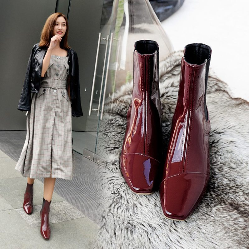 Chiko Delaney Metallic Chelsea Boots
