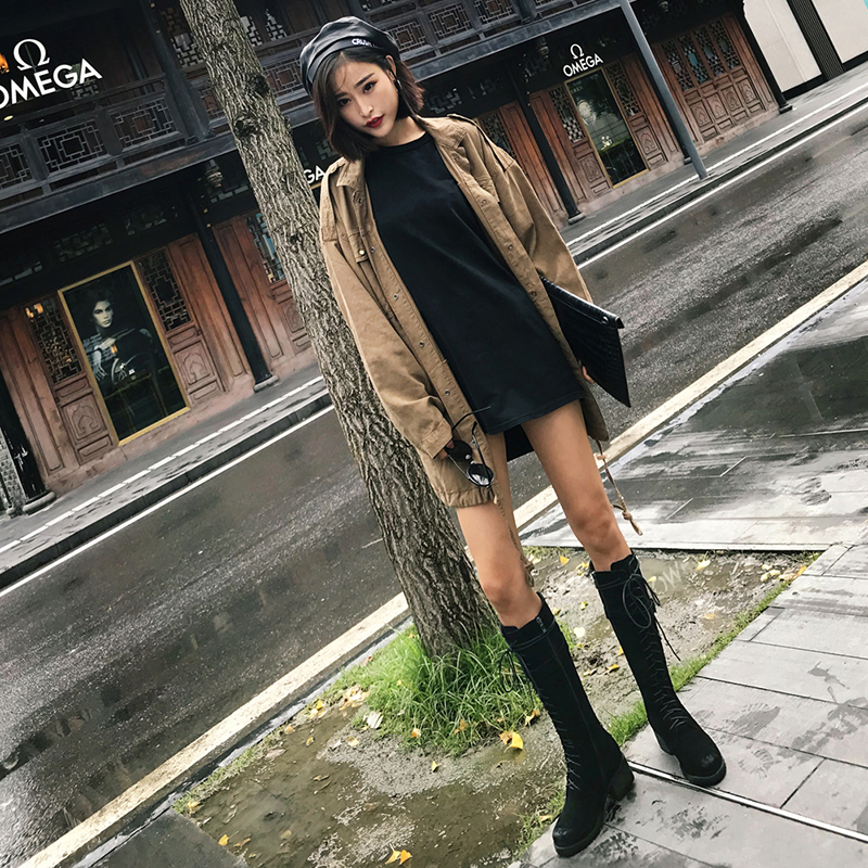 DARNEL LACE UP KNEE HIGH BOOTS