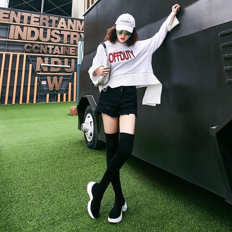 Chiko Dawn Thigh High Sneaker Boots