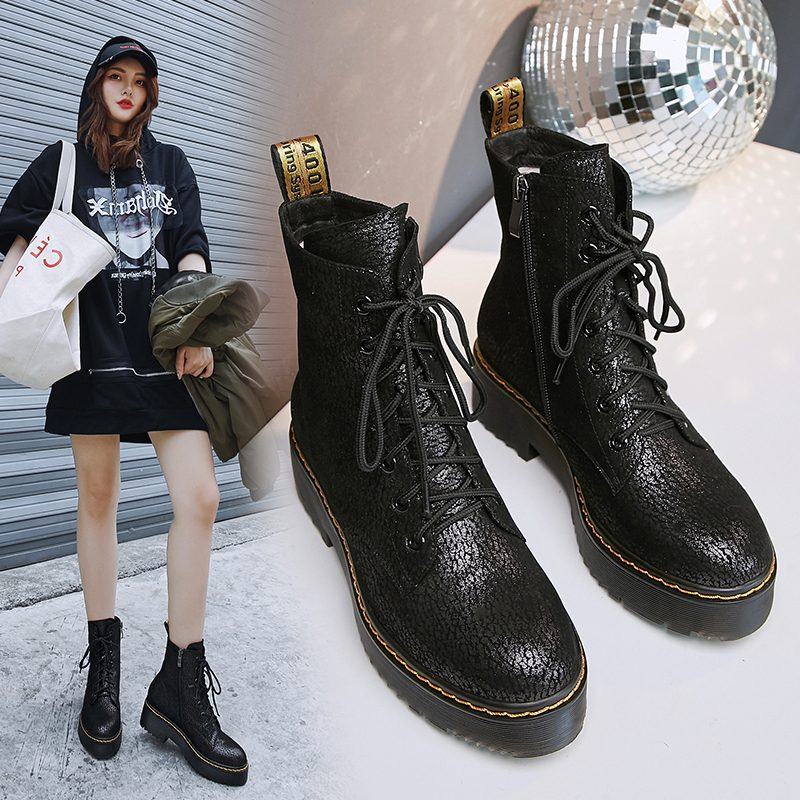 Chiko Del Glossy Combat Ankle Boots