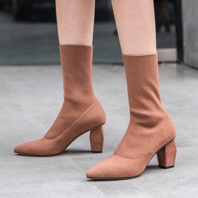 Chiko Delsie Sculptural Heel Sock Boots