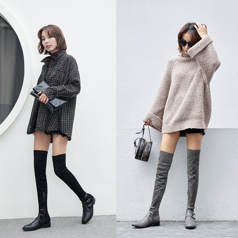 DENA THIGH HIGH BOOTS