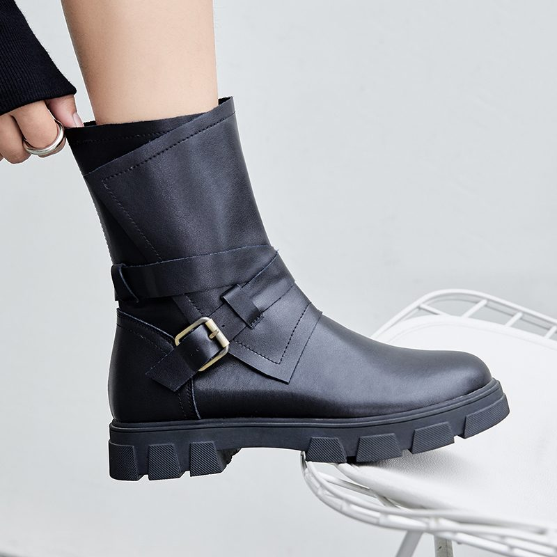 Chiko Deona Buckled Moto Ankle Boots