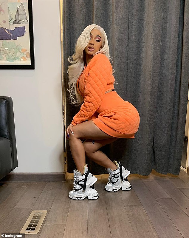 cardi-B-chunky-sneakers