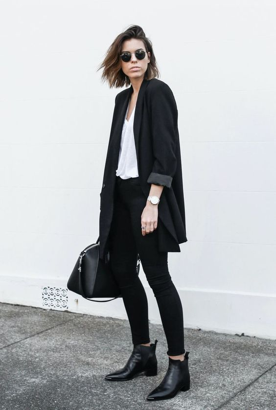 Chelsea boots street style with skinny jeans