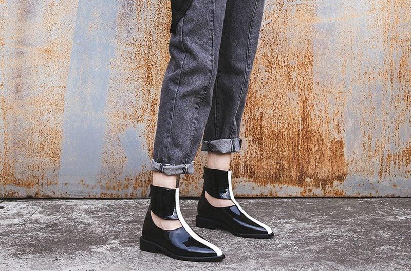 high shine glossy shoe trend