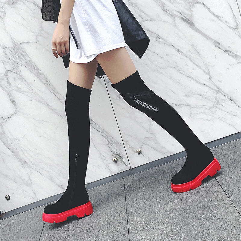 Chiko Dunley Flatform Thigh High Boots