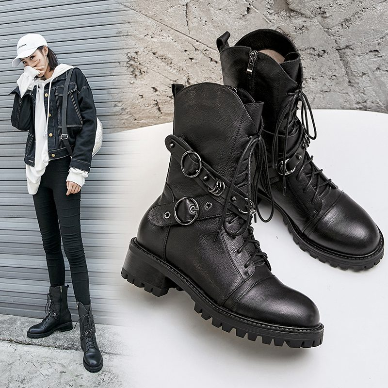 Chiko Dyer Combat Ankle Boots