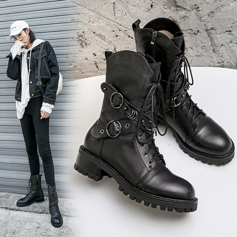 DYER COMBAT ANKLE BOOTS
