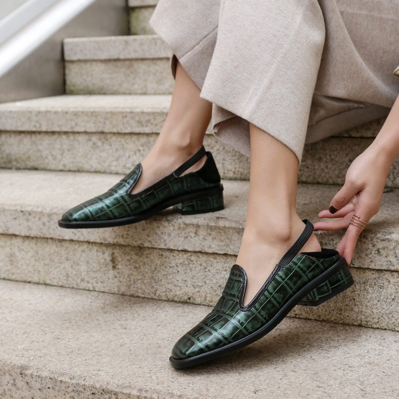 Chiko Edgard Python Print Loafer Mules