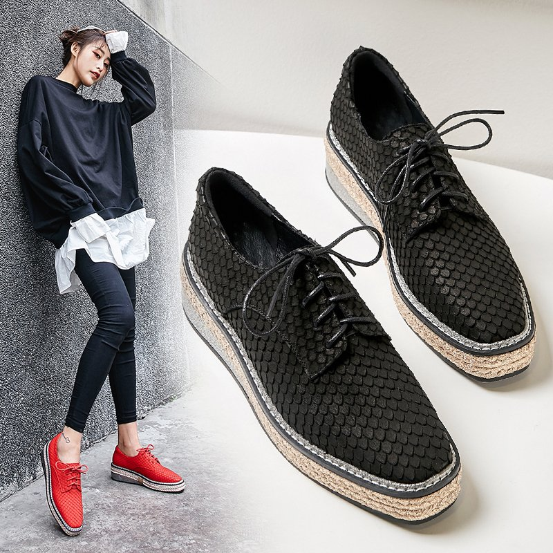 ELETTA PLATFORM OXFORDS