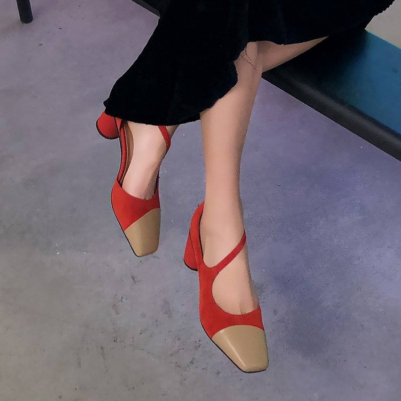 EMMA ASYMMETRIC MARY JANE PUMPS