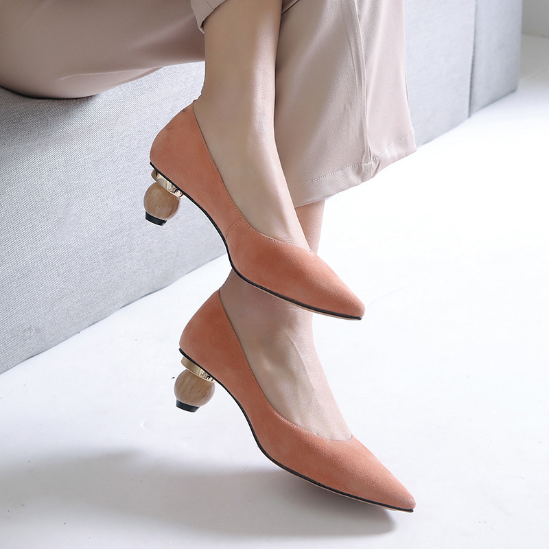 Emmily Sculptural Kitten Heel Pumps