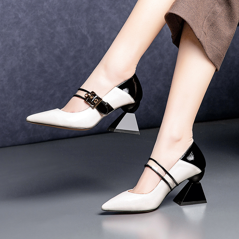 EVERLEY PVC MARY-JANE PUMPS MULES