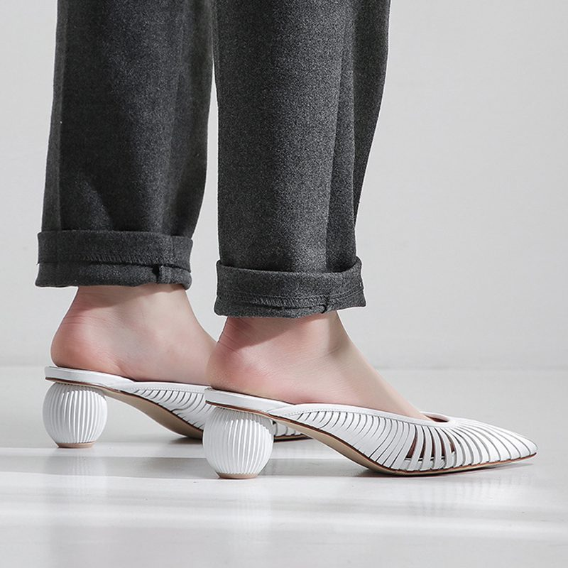 Chiko Faron Sculptural Heel Pointed Mules