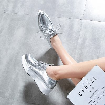 Chiko Estee Metallic Flatform Oxfords