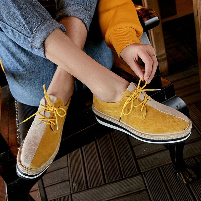 Chiko Eve Marie Two Tone Espadrille Flatform Oxfords