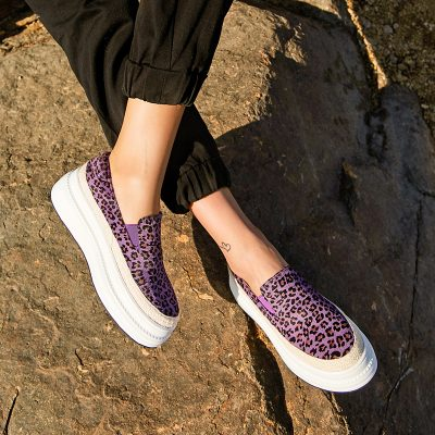 Chiko Eveline Leopard Print Flatform Loafers