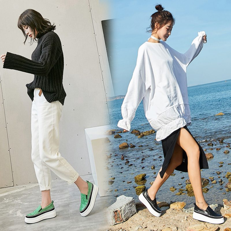 Chiko Estee Croc Print Flatform Loafers