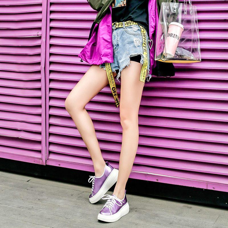 Chiko Eveline Metallic Flatform Sneakers