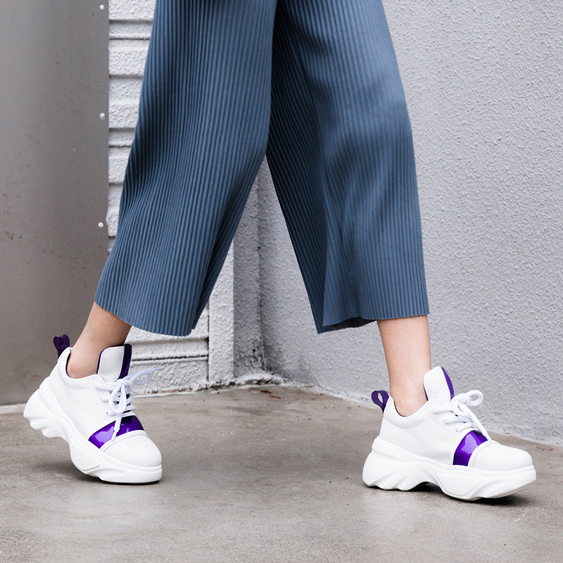 EVELYN PVC STRAP CHUNKY SNEAKERS