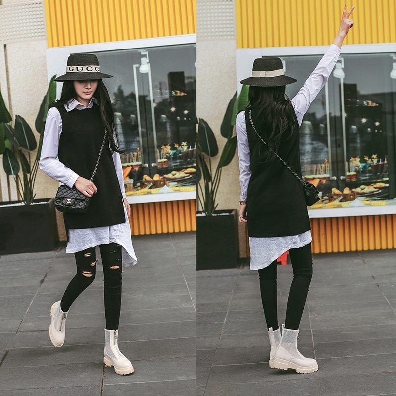 Chiko Elvy Mesh Flatform Ankle Boots