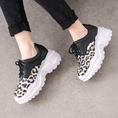 Chiko Elysa Leopard Flatform Dad Sneakers