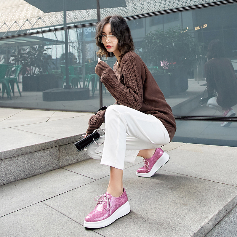 LYSSA GLOSSY FLATFORM OXFORDS