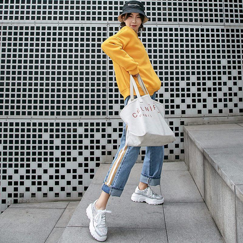 Chiko Emilee Glitter Flatform Dad Sneakers