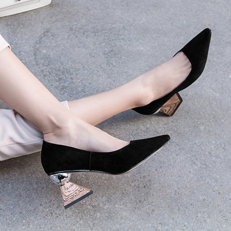 Elodie Sculptural Heel Pumps