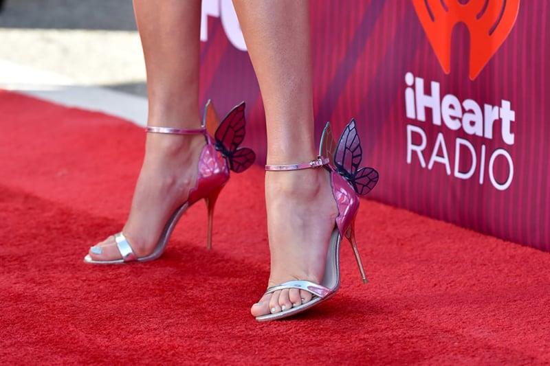 Taylor Swift metallic shoes