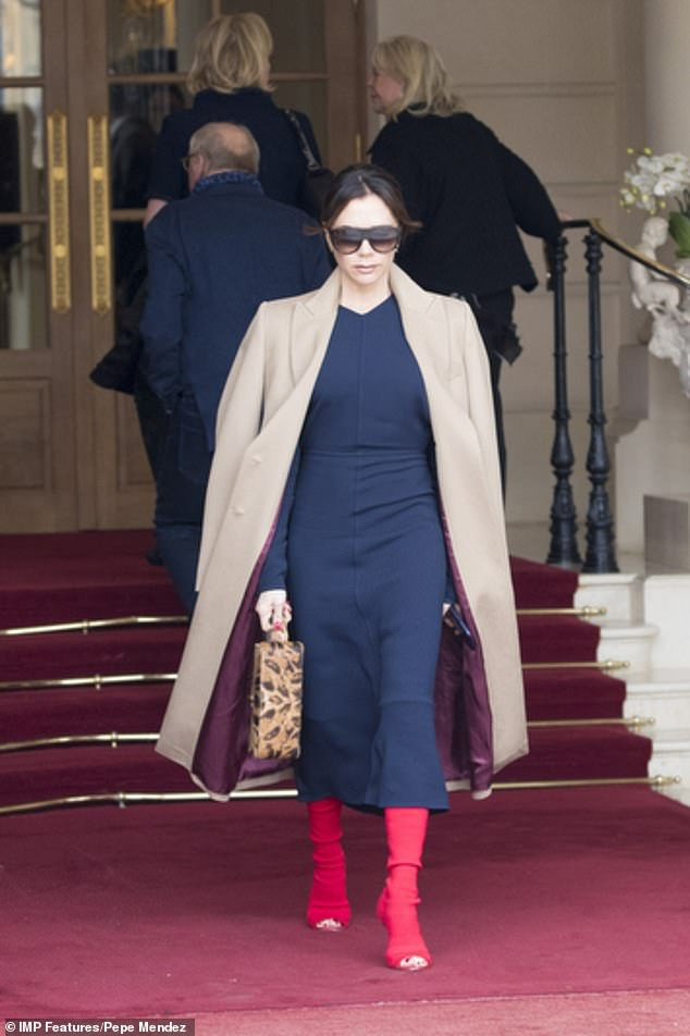 Victoria Beckham red shoes