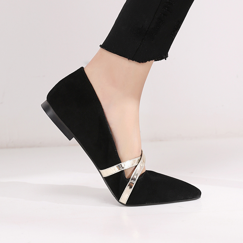 FARR METALLIC CROSS STRAP MARY-JANE PUMPS