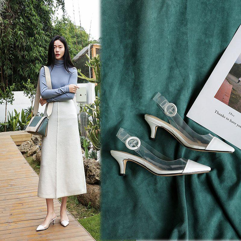 Chiko Faye PVC Slingback Kitten Heel Pumps
