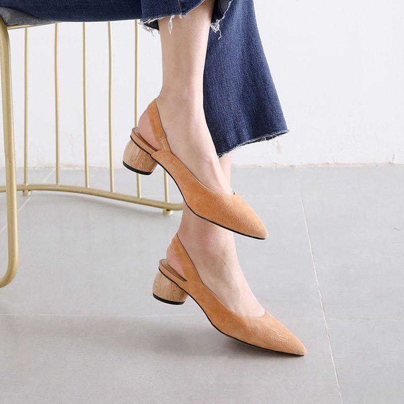 Chiko Firth Sculptural Heel Slingback Pumps
