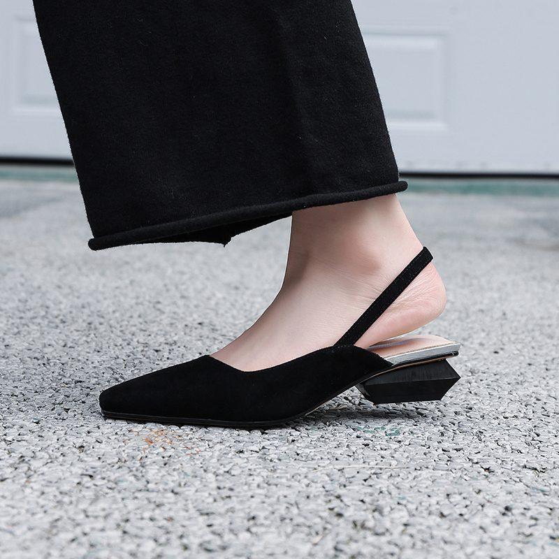 Chiko Fitz Sculptural Heel Slingback Pumps