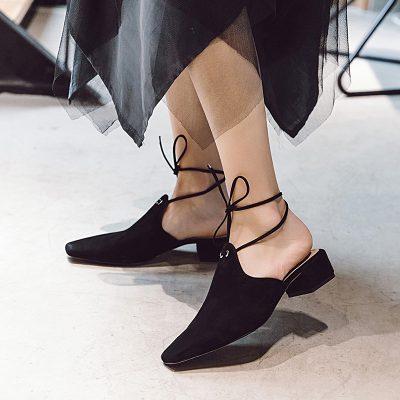 Chiko Fitzhugh Detachable Ankle Strap Mules