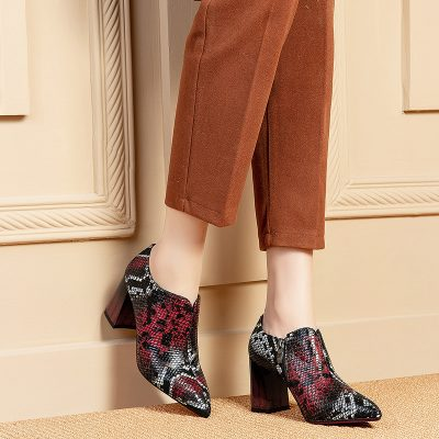 Chiko Gracelynne Pointed Toe Block Heels Boots
