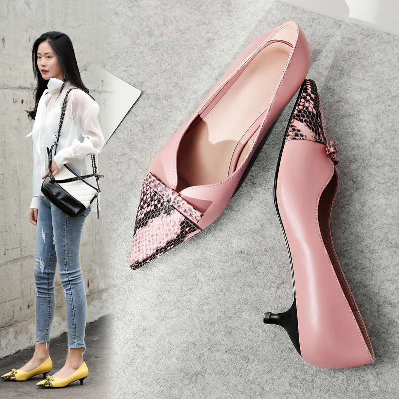 GUENDOLINA POINTED TOE BLOCK HEELS PUMPS