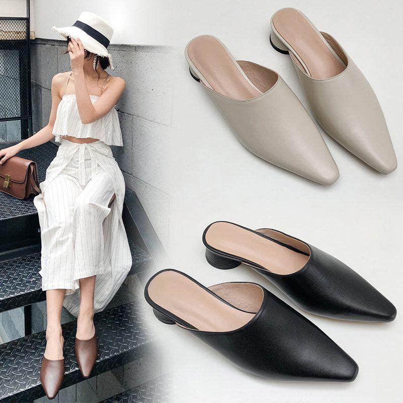 Chiko Hollee Square Toe Block Heels Clogs/Mules