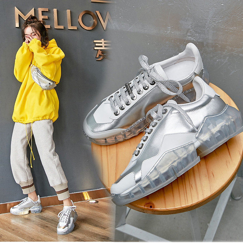 FRANKLIN JELLY METALLIC CHUNKY DAD SNEAKERS