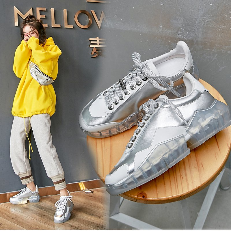 FRANKLIN JELLY METALLIC CHUNKY DAD SNEAKERS - dad sneakers shoe trend