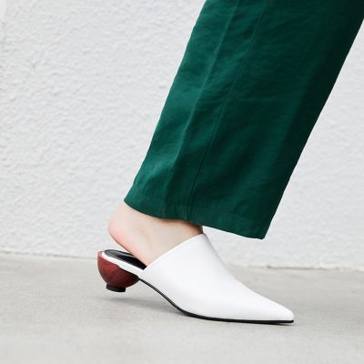 Chiko Gleda Pointed Toe Block Heels Clogs/Mules