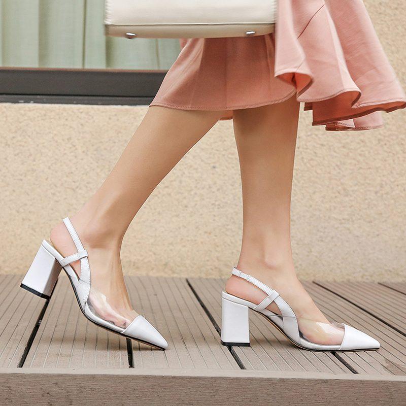 Chiko Goldie Pointed Toe Block Heels Sling-back Pumps